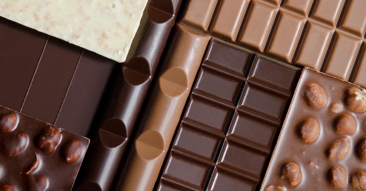 Schokolade gibt es in vielen Sorten.