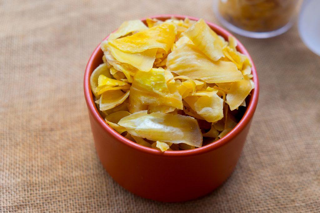 Getrocknete Jackfruit-Chips