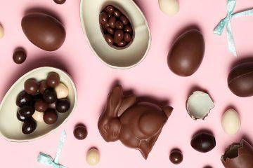 Eier und Hase aus Schokolade
