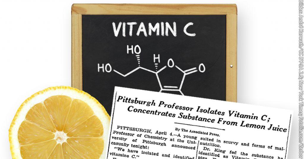 Über die Entdeckung von Vitamin C berichtete die New York Times 1932