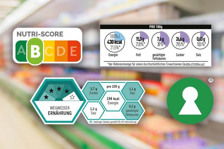 Ampel, Torten, Waben: Modelle für eine Nährwertkennzeichnung vorne auf Lebensmitteln in der Diskussion