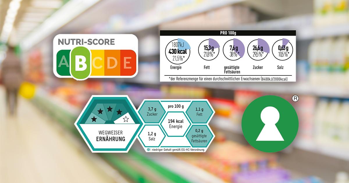 FOP-Modelle: Nutri-Score, MRI, BLL, Keyhole
