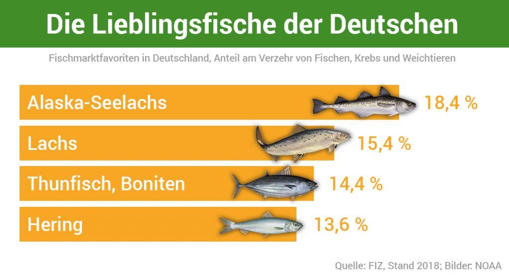 Lieblingsfische der Deutschen