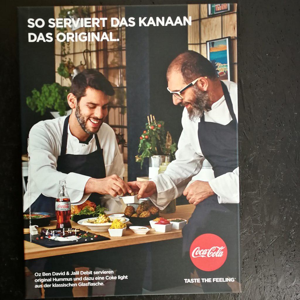 Restaurant Kanaan in einer Kampagne von Coca-Cola aus dem Jahr 2018