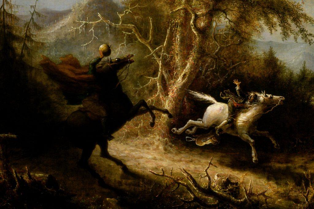 "Gemälde ""The Headless Horseman Pursuing Ichabod Crane"""