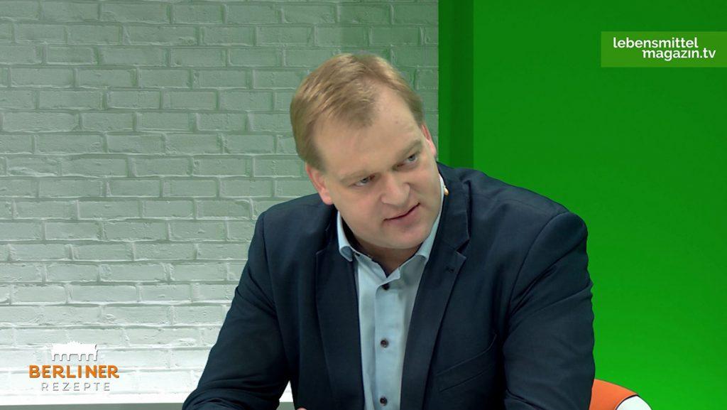 """Albert Stegemann, Agrarpolitischer Sprecher der CDU/CSU-Bundestagsfraktion, zu Gast in der Talkshow """"Berliner Rezepte""""."""