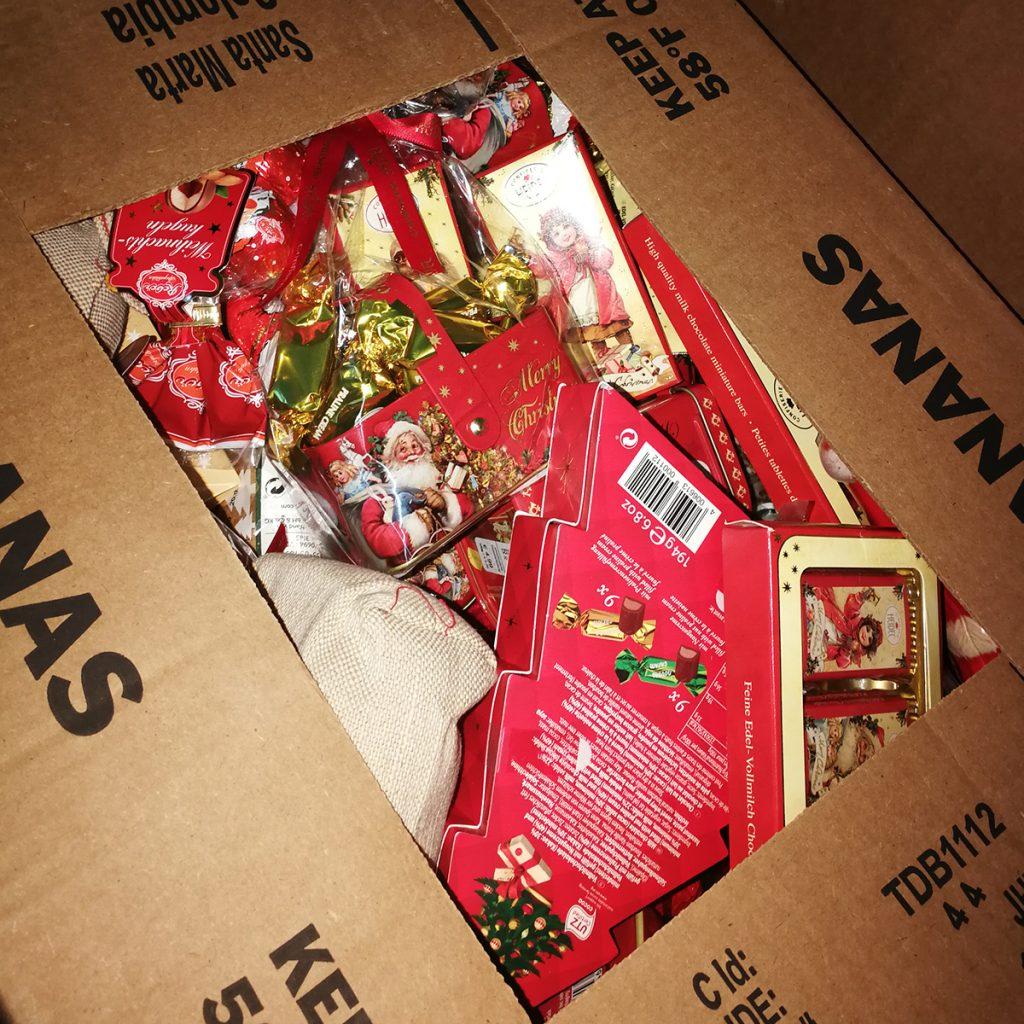 Übrig gebliebene Weihnachtssüßigkeiten
