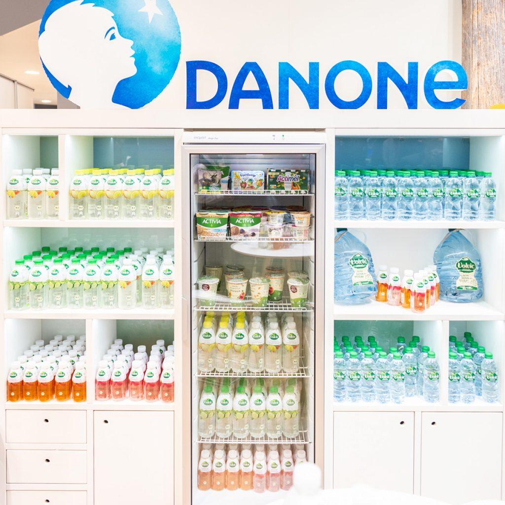Nachhaltige Wasserflaschen und neue Produkte gab's bei Danone auf der Grünen Woche