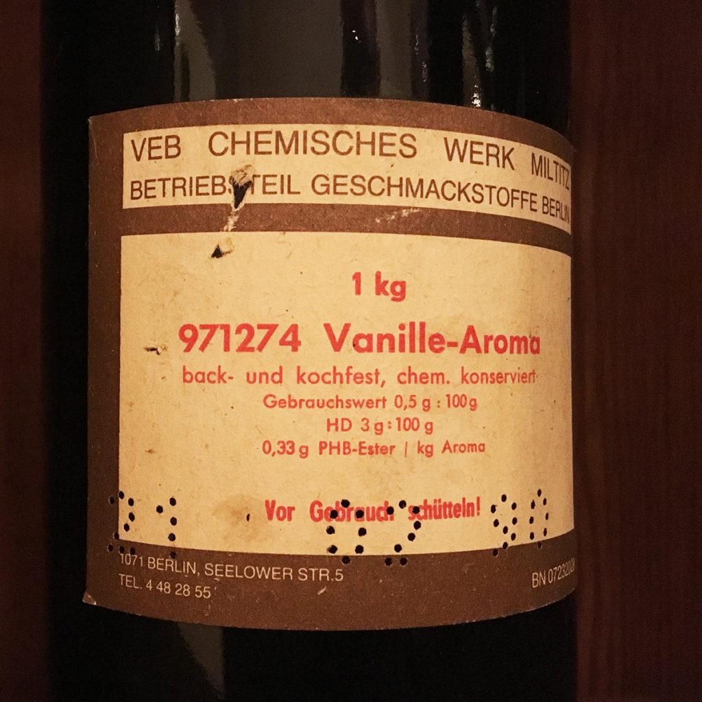 Historische Flasche Vanille-Arom