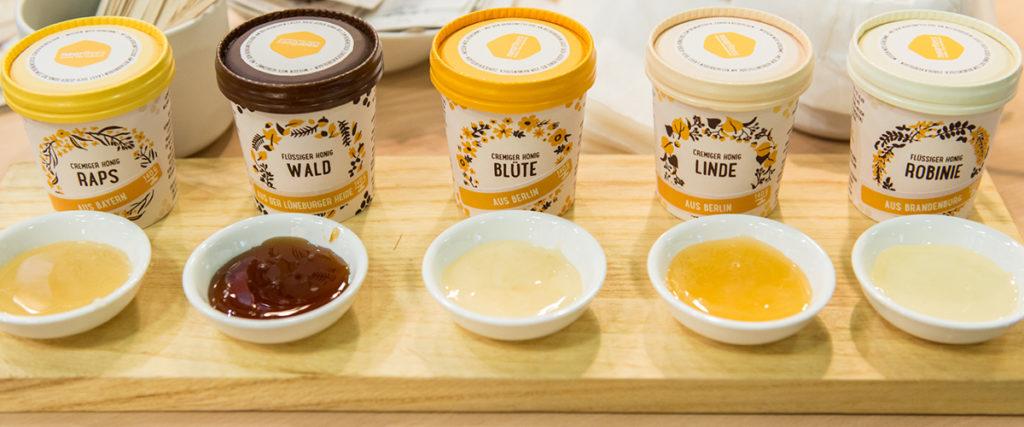 Honig in verschiedenen Farben