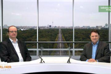 """Thomas Lutze (Die Linke) diskutierte mit Christoph Minhoff im Polittalk """"Berliner Rezepte"""" über die Coronakrise."""