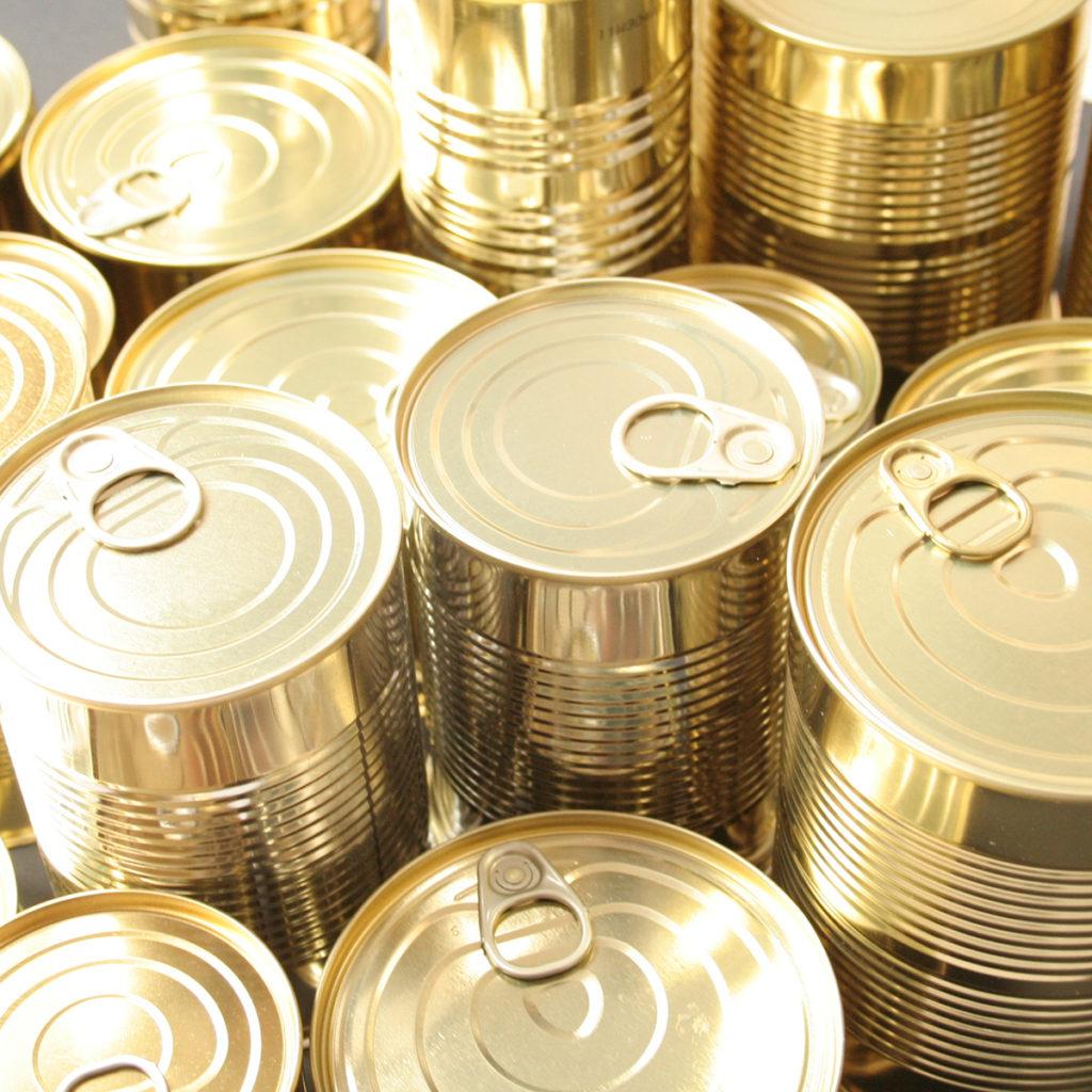 Konservendosen lassen sich sehr gut recyceln.