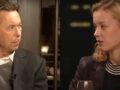 """Medienwissenschaftler Prof. Dr. Norbert Bolz und Klimaaktivistin Carla Reemtsma (Fridays for Future) im """"Küchenkabinett""""."""