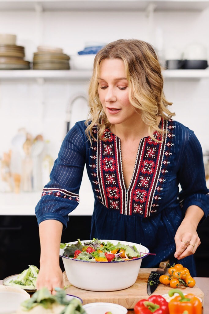 Food-Kreative Nina Olsson bei der Arbeit
