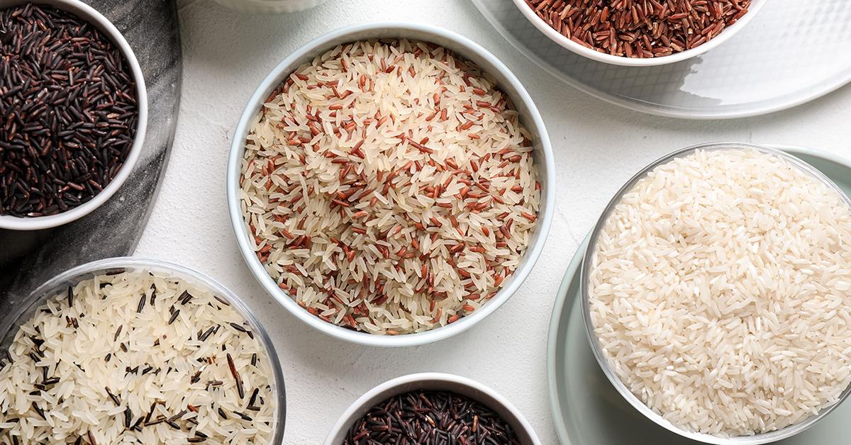Verschiedene Reissorten.