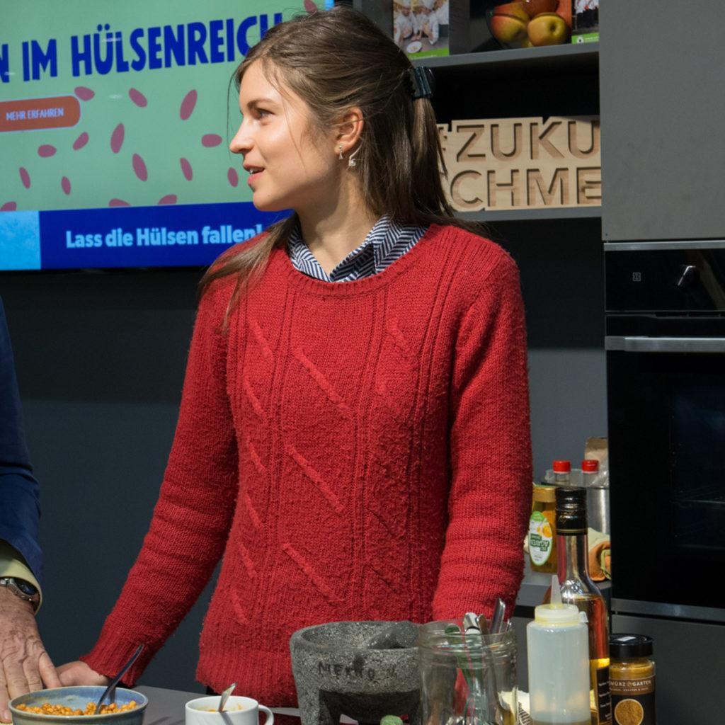 Startup-Gründerin Emilie Wegner auf der Grünen Woche in Berlin.