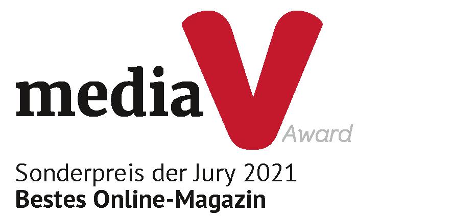 media V Award 2021 als Bestes Online-Magazin für lebenmittelmagazin.de